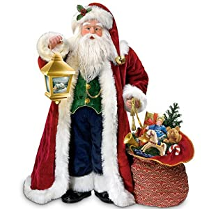 Thomas Kinkade Traditional Musical Santa Claus Christmas Doll by Ashton Drake