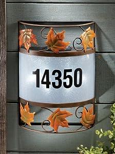 Custom Address Wall Mount Solar Light