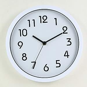 Binwo Modern Colorful Stylish Elegant Silent Non Ticking Home Kitchen Living Room Wall Clock 10