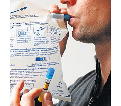 Lot de 3 Alcootest CONTRALCO fiable - réponse immédiate - MWS2405