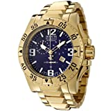 Invicta Mens 5676 Reserve Collection Excursion Chronograph 18k Gold-Plated Watch