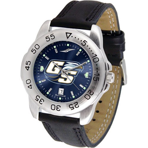 Suntime Georgia Southern Eagles Ncaa Anochrome Sport Mens Watch Leather Band