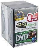 サンワサプライ DVDトールケース 4枚収納×10 ブラック DVD-TN4-10BK ランキングお取り寄せ