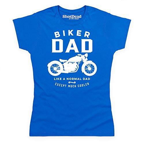 Biker Dad T-shirt, Donna, Blu royal, 2XL