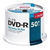 イメーション DVD-Rデータ用 1-16X プリンタブルホワイト スピンドル50枚入ロゴなし DVD-R4.7PWBX50SNL