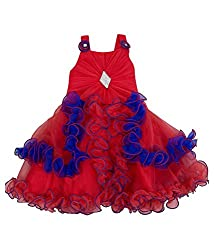 Addyvero Desire Red Baby Girls Halter Dress