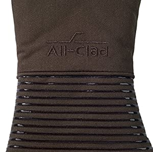 All-Clad Textiles Heavyweight 100-Percent Cotton Twill and Silicone Oven Mitt