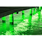 Pimp My Dock DIY Green Premium 15,000 Lumen LED Under Dock Lighting Kit SMD5630 IP68 Completely Waterproof (Green) (Color: Green)