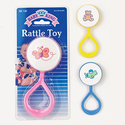 Baby King Lollipop Rattle Toy (Blue)