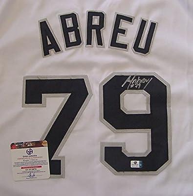 Jose Abreu Chicago White Sox Autographed White #79 Jersey COA