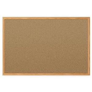 Mead Classic Cork Bulletin Board, 4 x 3 Feet, Oak Finish Frame (85367)