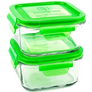 wean green lunch cubes glass food containers pea baby food storage containers. Black Bedroom Furniture Sets. Home Design Ideas