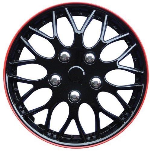 AutoStyle-KT970-MBK-R-Set-Copricerchio-Missouri-Nero-OpacoCerchio-Rosso-4-pezzi