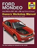 Ford Mondeo 1.8 LX 2.0 ZETEC 2.5 3.0 V6 ST220 & 2.0TDCi 2.2TDCi TDCi Diesel 2003-2007 Haynes Manual
