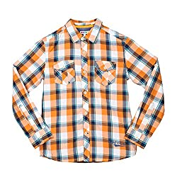 Poppers by Pantaloons Boy's Shirt 205000005562261_Orange_9-10 Years