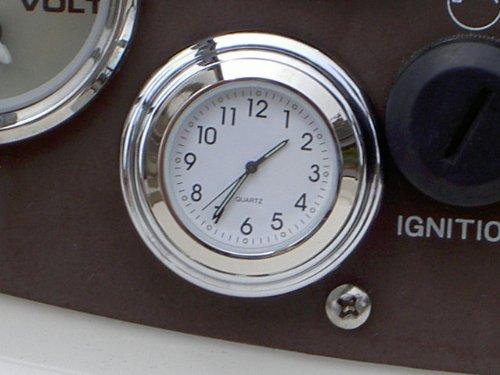 Chrome Stick On Clock White Dial (Automotive Clock compare prices)