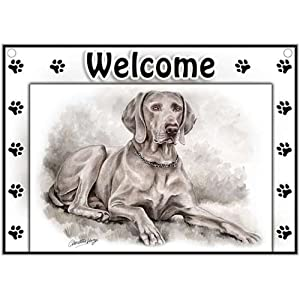 Weimaraner Welcome Sign
