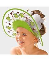 BABY-WALZ Visière anti-shampooing « Grenouille » accessoires de bain, vert