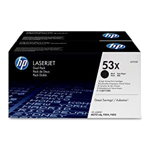 HP Q7553XD Laserjet 53X Dual Pack (53X) Cartridge - Retail Packaging - Black