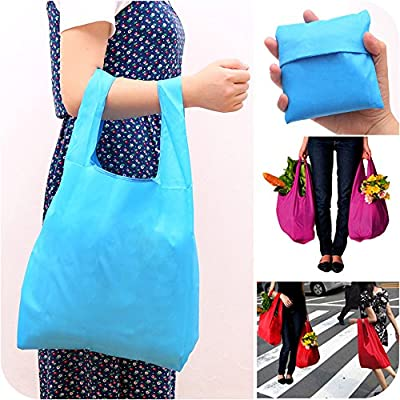 Bekith Set of 8 Foldable Reusable Grocery Bags ECO Friendly Travel Recycle Bag