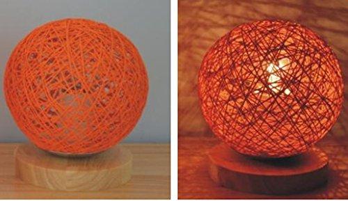 New 220v EU plug table lamp Rattan Ball design Takraw night light for Bedroom Bedside living room indoor lighting Diameter 15cm F