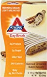 Atkins Day Break Oatmeal Cinnamon Baked Square Morning Snack Bar, 1.4 oz Bars, 5 Count