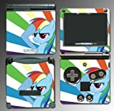 My Little Pony Friendship is Magic Rainbow Dash Video Game Vinyl Decal Cover Skin Protector for Nintendo GBA SP Gameboy Advance Game Boy