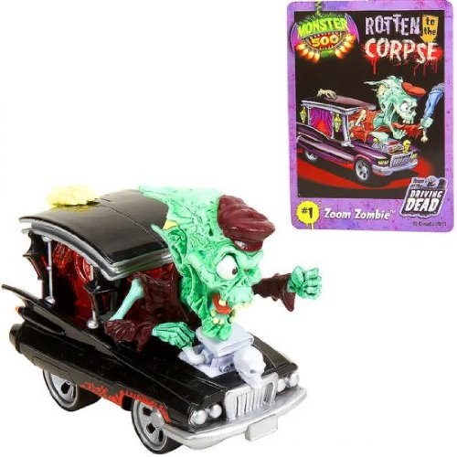 Monster 500 Large Car & Trading Card - Zoom Zombie
