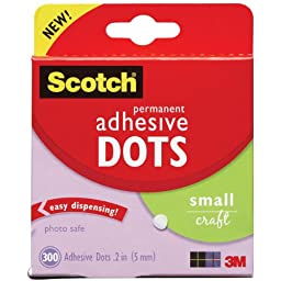 Scotch 010-300S 300-Pack Adhesive Dots, Small
