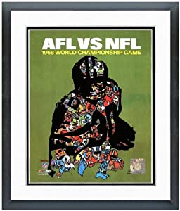 Super Bowl II Green Bay Packers & Oakland Raiders Program Cover 1968 Photo 18 x... by NFL