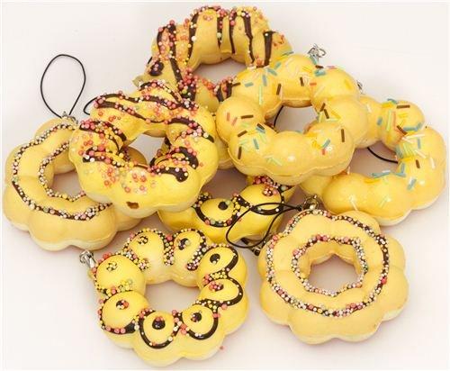 Imagen 1 de Colgante kawaii Squishy donut flor amarillo