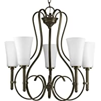 Progress Lighting Flirt Collection 5-Light Antique Bronze Chandelier