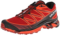 Salomon Men\'s Wings Pro Running Trail Shoe, Flea/Tomato Red/Black, 11.5 M US