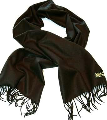 100%Cashmere Scarf--80 Rich Colors! Super Soft (Black)