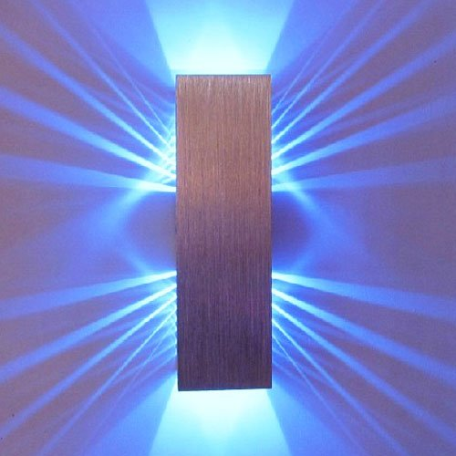 Lightinthebox 2W Modern Led Wall Light Fixture With Scattering Light Design 2 Cubic Shades (Blue) front-900166