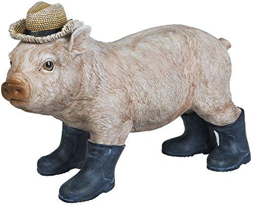 Dekofigur-Ferkel-Schweinchen-mit-Gummistiefeln-Gartenfigur-Dekofigur-Wildlife