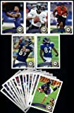 2011 Topps Baltimore Ravens Complete Team Set of 18 cards including Flacco, Ray Rice, Ray Lewis, Torrey Smith RC, Jimmy Smith RC, Tyrod Taylor RC, Allen RC, Doss, RC and more