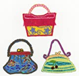 Handbags tassled gems iron sew or glue embroidery patches x 3 assorted