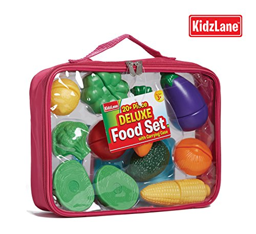 Pretend Play Food Set For Kids With Knife And Cutting Board And A Heavy-Duty Tote Bag back-339694