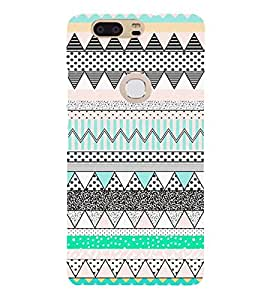 Zig Zag Dots Pattern 3D Hard Polycarbonate Designer Back Case Cover for Huawei P8
