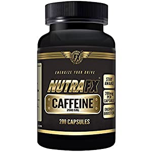 Nutrafx Caffeine 200 mg (Anhydrous) 200 capsules