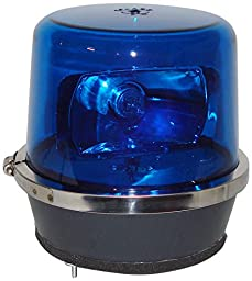 North American Signal 112HR-ACB Halogen Rotating Beacon, Permanent Mount, Blue