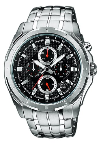 Casio Edifice EF-328D-1AVEF Men's Analog Quartz Watch with Steel Bracelet, Black