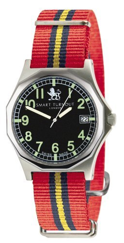 Smart Turnout Military Watch with nylon strap in the colours of the Royal Artillery RA/55/W