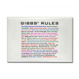 CafePress NCIS Gibbs' Rules Rectangle Magnet - Standard Multi-color