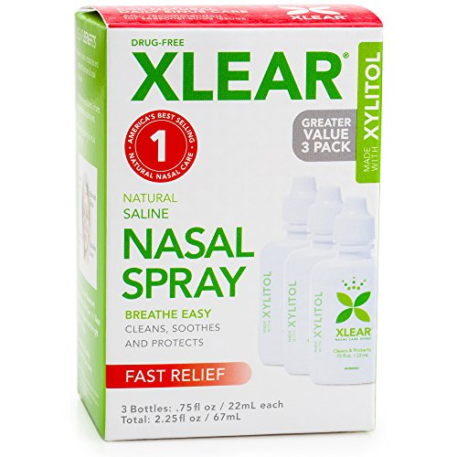Xlear Saline Nasal Spray with Xylitol - 0.75 oz - 3 ct (Grapefruit Seed Extract Nasal compare prices)