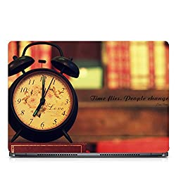 Inktree Vinyl Timeflies Matte Finish Adhesive Laptop Skin (15 inch x 10 inch, Mulicolor)