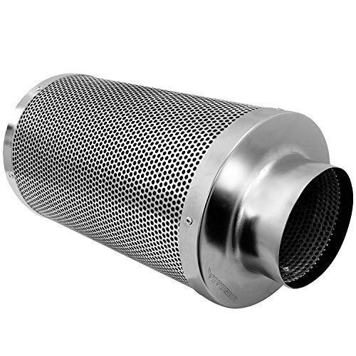 VIVOSUN 6 Inch Air Carbon Filter Odor Control with Australia Virgin Charcoal for Inline Fan Pre-filter Included Reversible Flange (Inline Fan Air Filter compare prices)