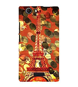Eiffel Tower New York 3D Hard Polycarbonate Designer Back Case Cover for Micromax Canvas Nitro 2 E311 :: Micromax Canvas Nitro 2 (2nd Gen)
