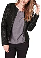 Triangle by s.Oliver Damen Lederjacke 18.408.56.7523